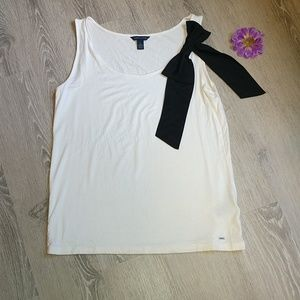 Tommy Hilfiger tank top with black bow loose fit